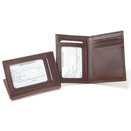 Monogrammed Leather Card Case With Multi Windows