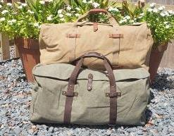 Large Washed Canvas Duffel