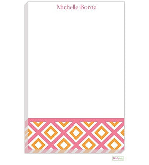 Personalized Geo Modern Notepad