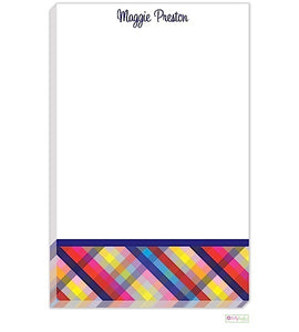 Personalized Gingham Modern Notepad