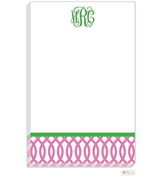 Personalized Garden Gate Modern Notepad