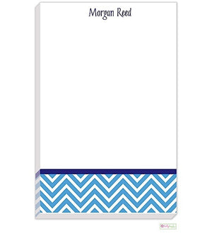 Personalized Chevron Modern Notepad