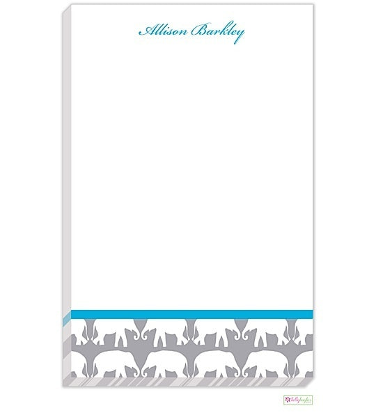 Personalized Elephant Parade Modern Notepad