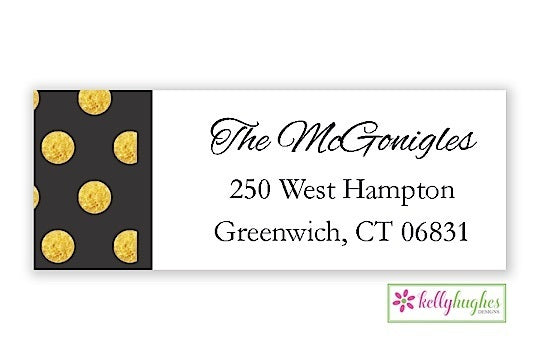Art Deco - New Year Holiday - Address Labels