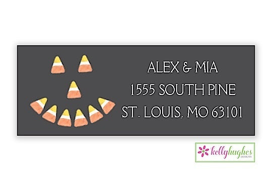 Halloween Candy Corn Holiday Address Labels