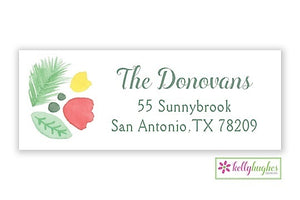 Winter Garden - Christmas Holiday - Address Labels