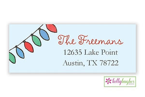 Bright Lights  - Christmas Holiday - Address Labels