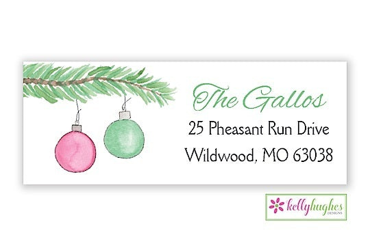 Trim The Tree Branch  - Christmas Holiday - Address Labels