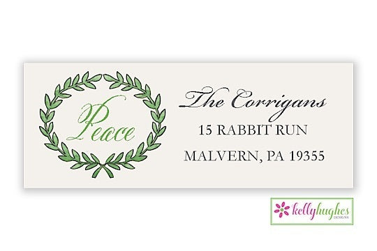 Olive Branch  - Christmas Holiday - Address Labels