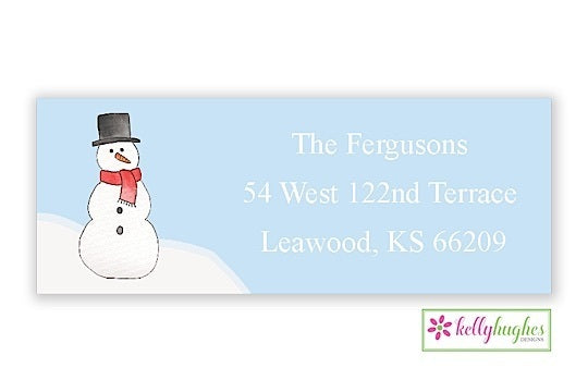 Let It Snow  - Christmas Holiday - Address Labels