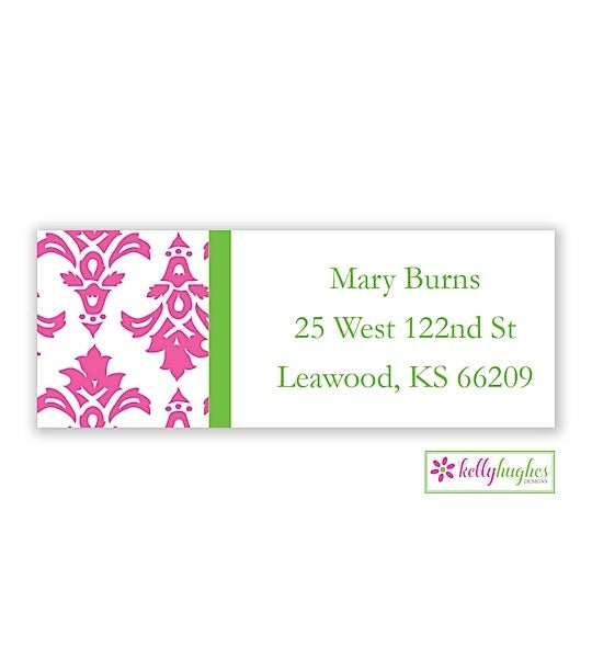 Damask Modern Address Labels