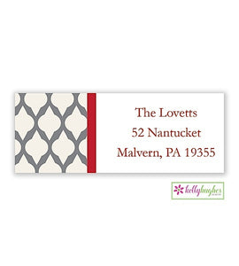 Grey Lattice Modern Address Labels