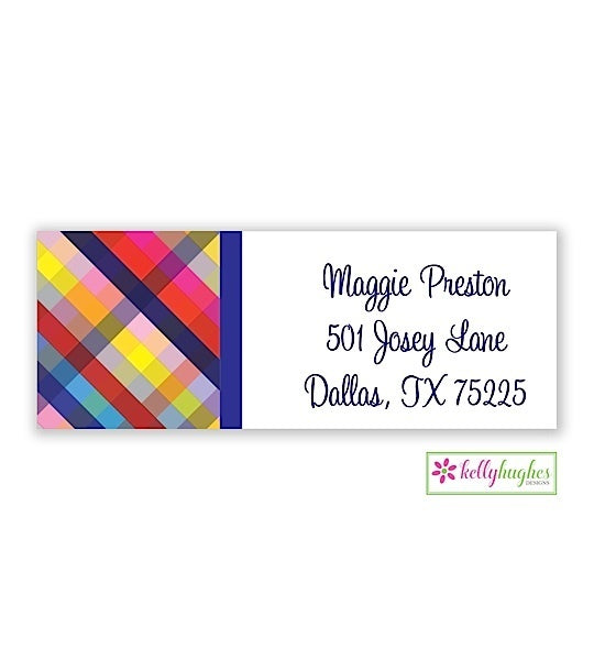 Gingham Modern Address Labels