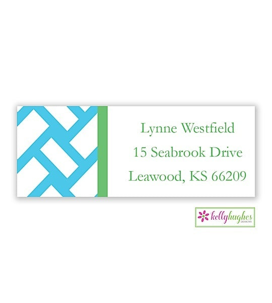 Basketweave Modern Address Labels