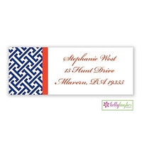 Greek Key Modern Address Labels