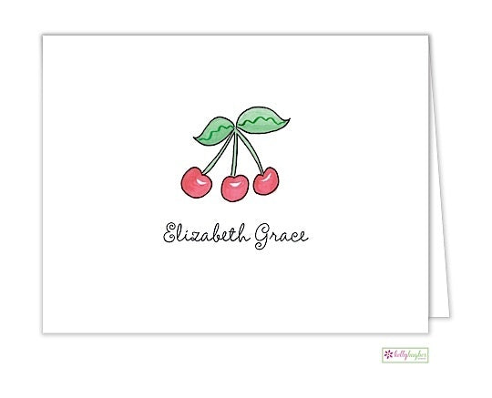 Rosy Red Cherries Classic Folded Notes