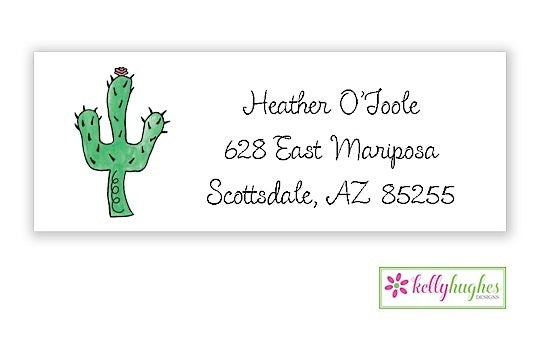 Blooming Cactus Classic Address Labels