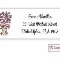 Bouquet In Pink Classic Address Labels