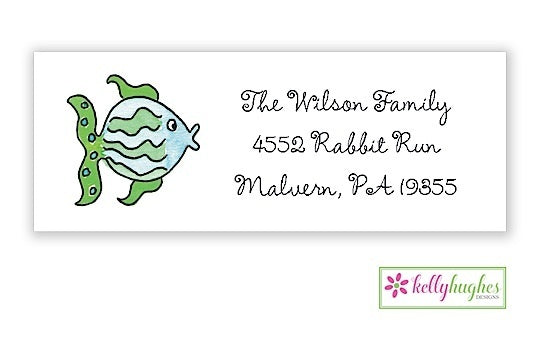 All The Fish Classic Address Labels