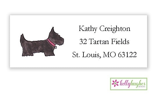 Preppy Pups Classic Address Labels