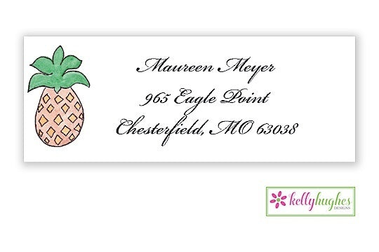 Pineapple Classic Address Labels