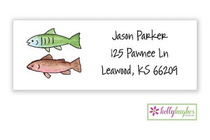 Gone Fishing Classic Address Labels