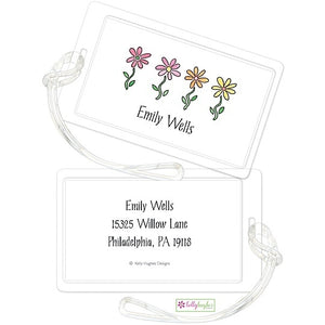 Personalized Row of Dasies Classic Luggage Tags