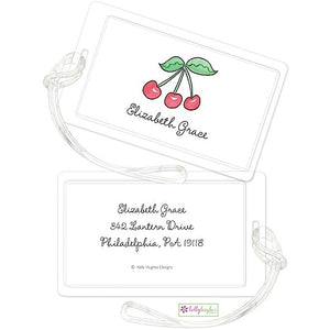Personalized Rosy Red Cherries Classic Luggage Tags
