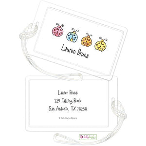 Personalized Lucky Ladybugs Classic Luggage Tags