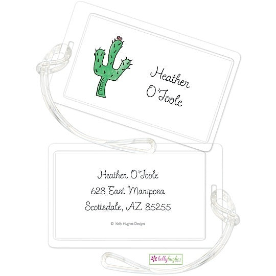 Personalized Blooming Cactus Classic Luggage Tags