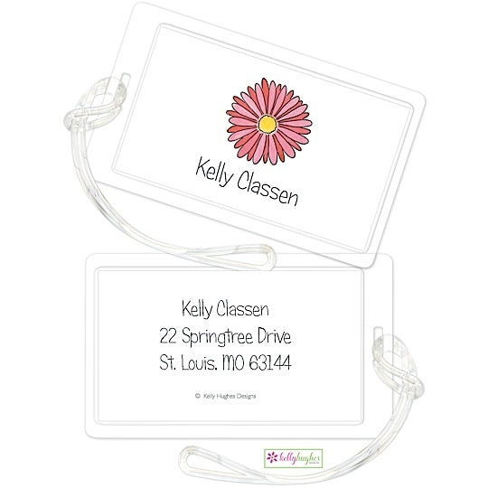 Personalized Gerber Daisy Classic Luggage Tags