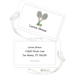 Personalized Tennis Pro Classic Luggage Tags