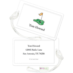 Personalized Tee It Up Classic Luggage Tags