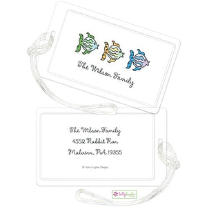 Personalized All The Fish Classic Luggage Tags