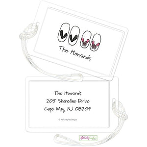 Personalized Flip Flops Classic Luggage Tags