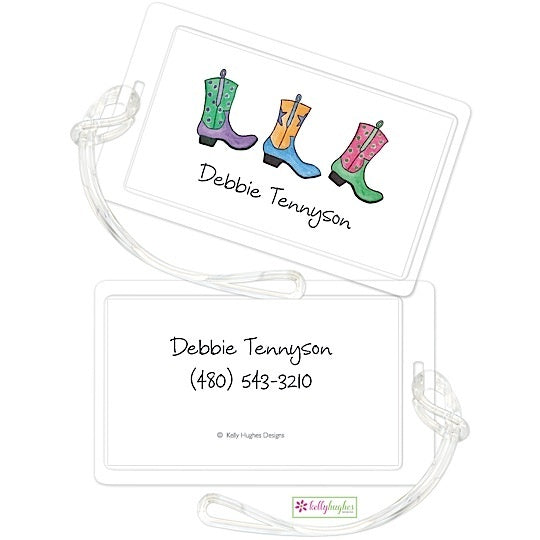 Personalized Rhinestone Cowgirl Classic Luggage Tags
