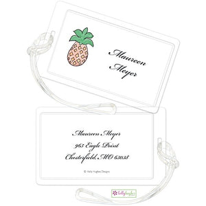 Personalized Pineapple Classic Luggage Tags
