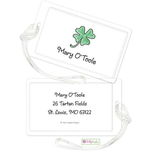 Personalized Lucky Clover Classic Luggage Tags