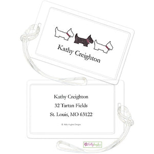 Personalized Preppy Pups Classic Luggage Tags