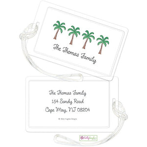 Personalized Palm Paradise Classic Luggage Tags