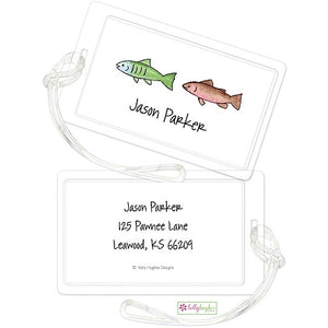 Personalized Gone Fishing Classic Luggage Tags