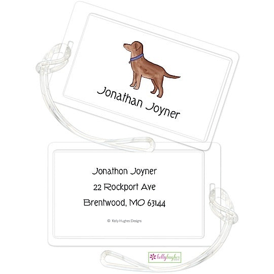 Personalized Best Friend Classic Luggage Tags