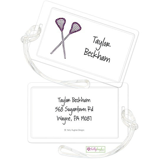 Personalized Lacrosse Classic Luggage Tags
