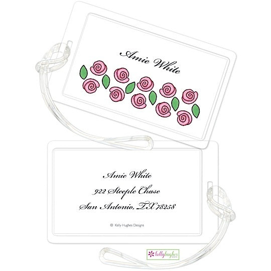 Personalized Rose Garden Classic Luggage Tags