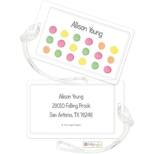 Personalized Sherbet Dots Classic Luggage Tags
