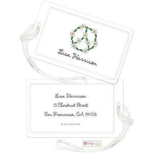 Personalized Daisy Chain Classic Luggage Tags