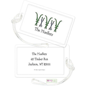 Personalized Hit The Slopes Classic Luggage Tags