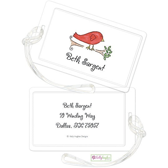 Personalized Little Birdie Classic Luggage Tags