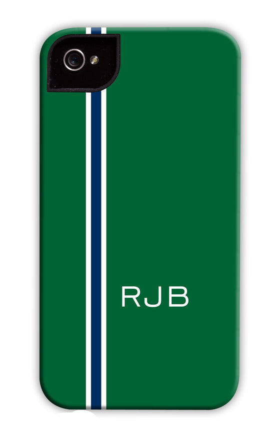 Vertical Stripe Green & Blue Phone Case