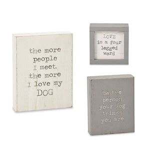 Wood Pet Plaque
